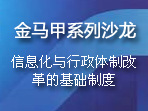 【金马甲沙龙】信息化与行政体制改革的基础制度